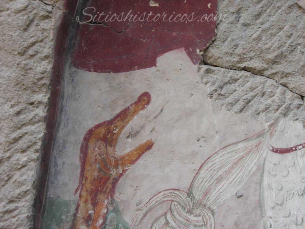 Lo más probable es que el dragón simbolice al mal o el paganismo.