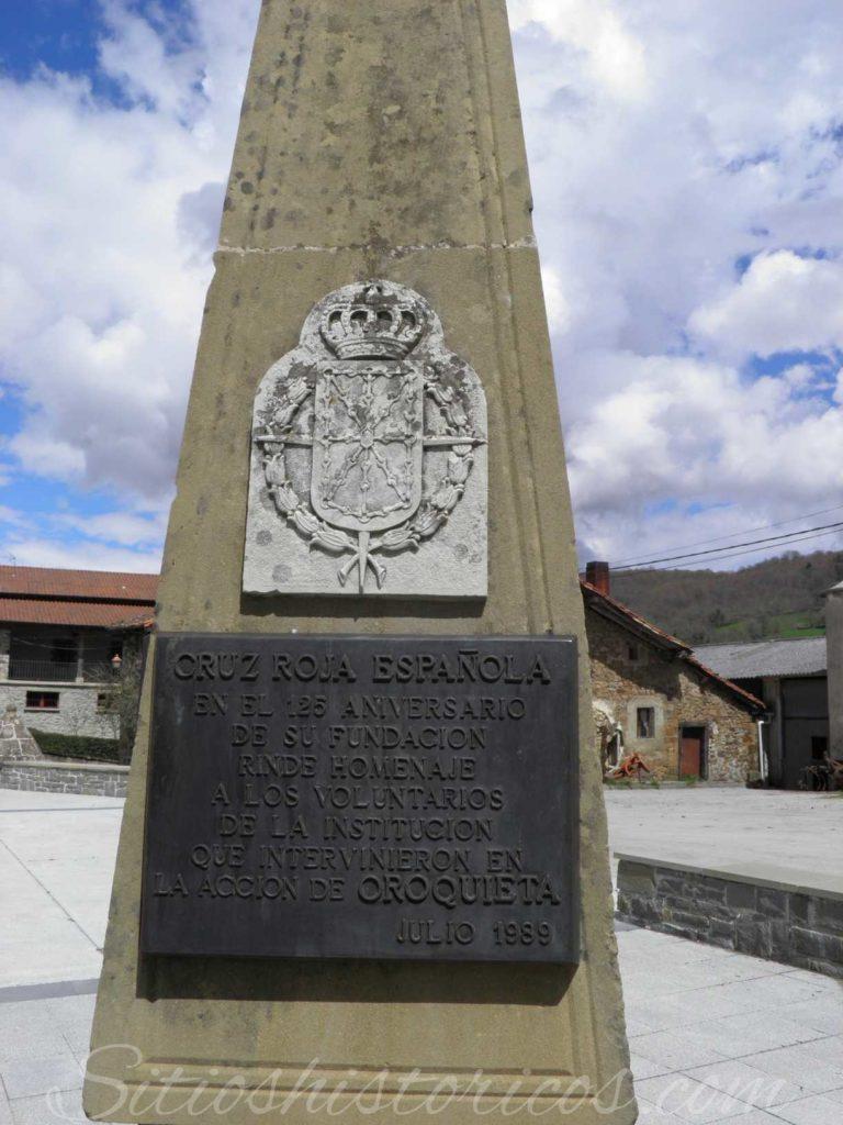 Monumento cruz roja orokieta