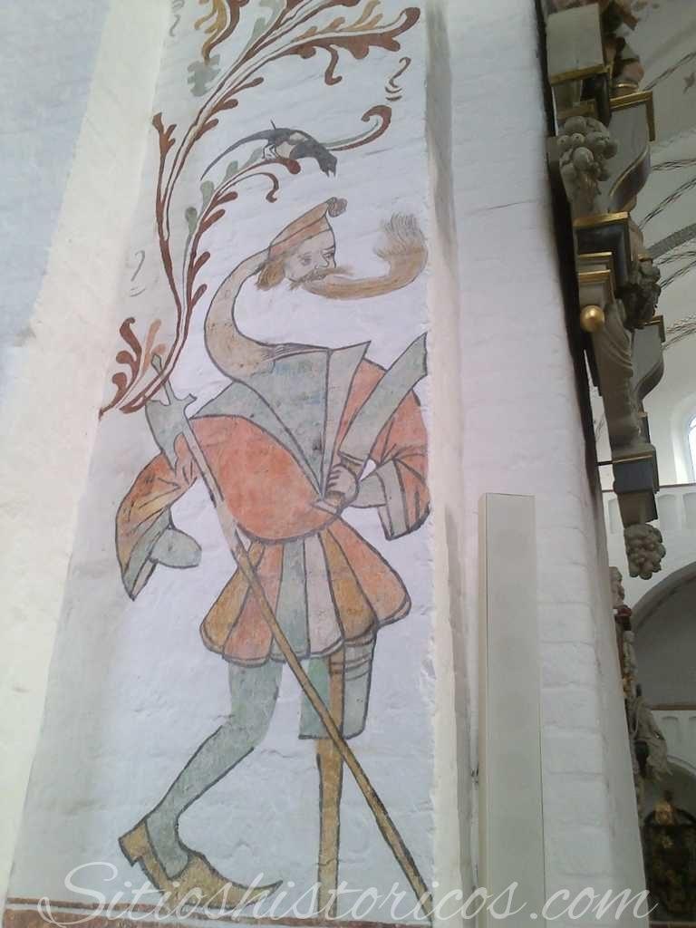 Fresco en la catedral de Aarhus