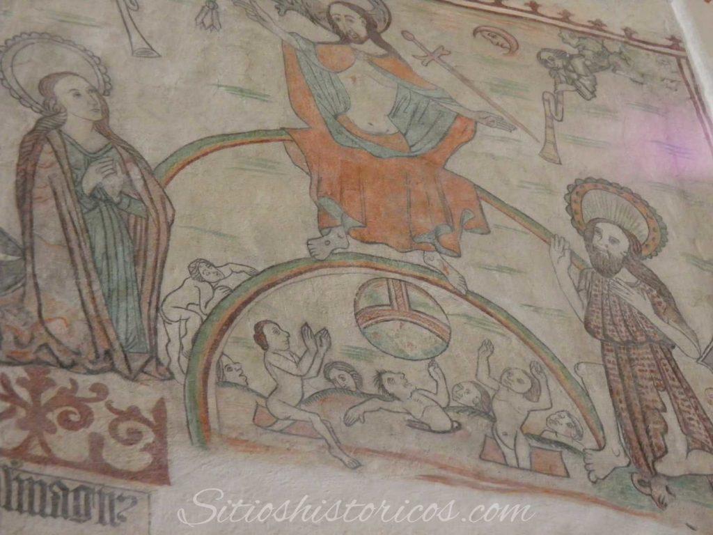 Frescos en la catedral de Aarhus