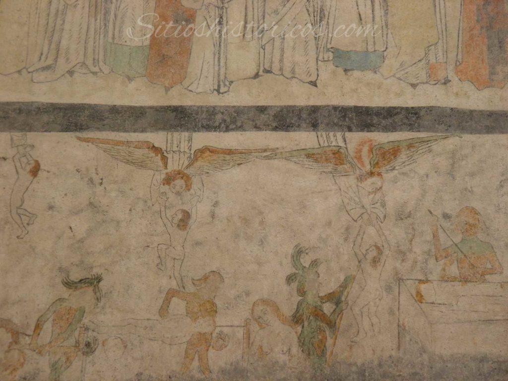 El purgatorio representado en los frescos de Aarhus