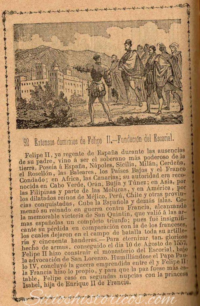El Escorial Felipe II libro antiguo