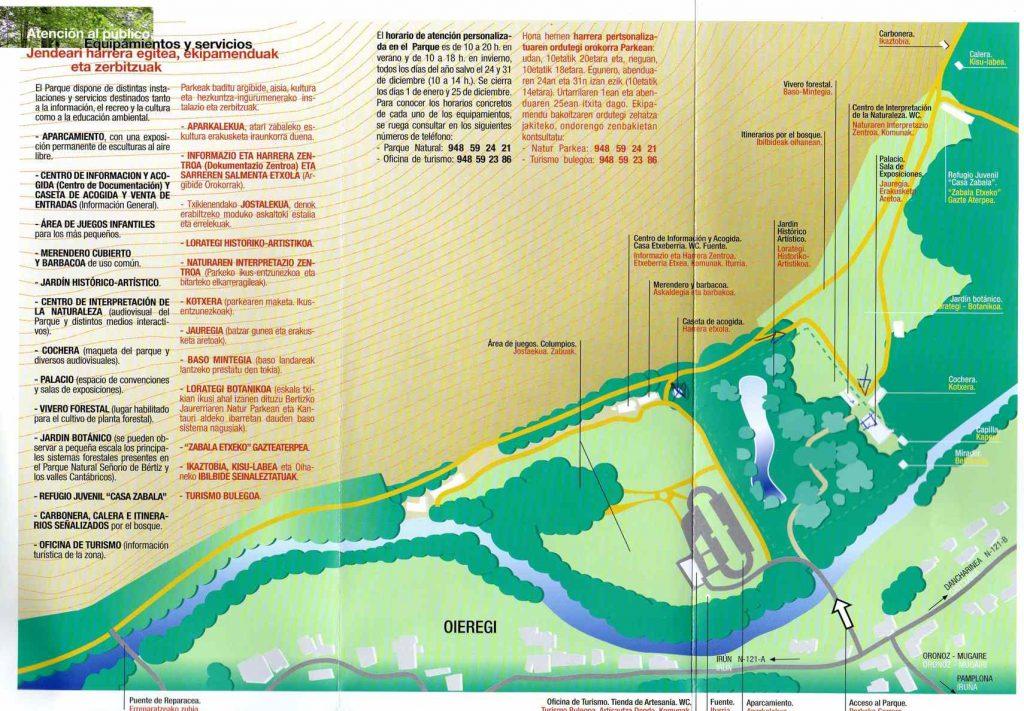 Plano Parque natural Señorio Bértiz
