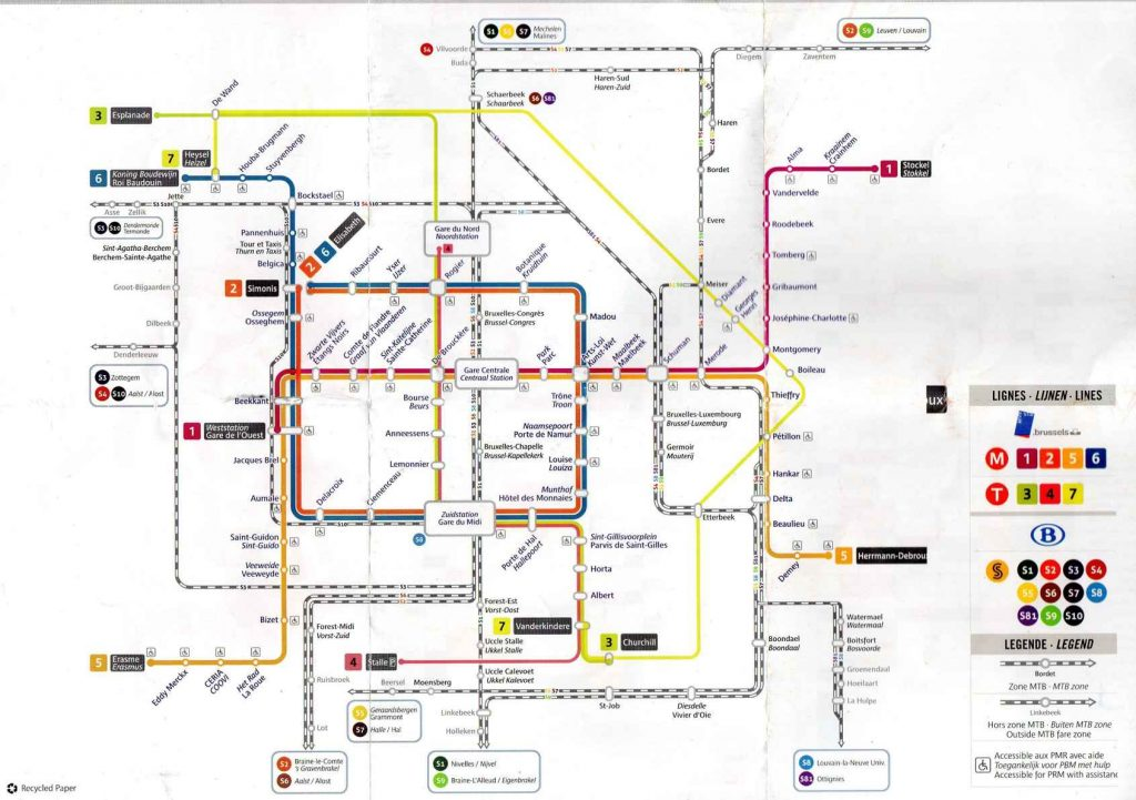 Plano metro Bruselas