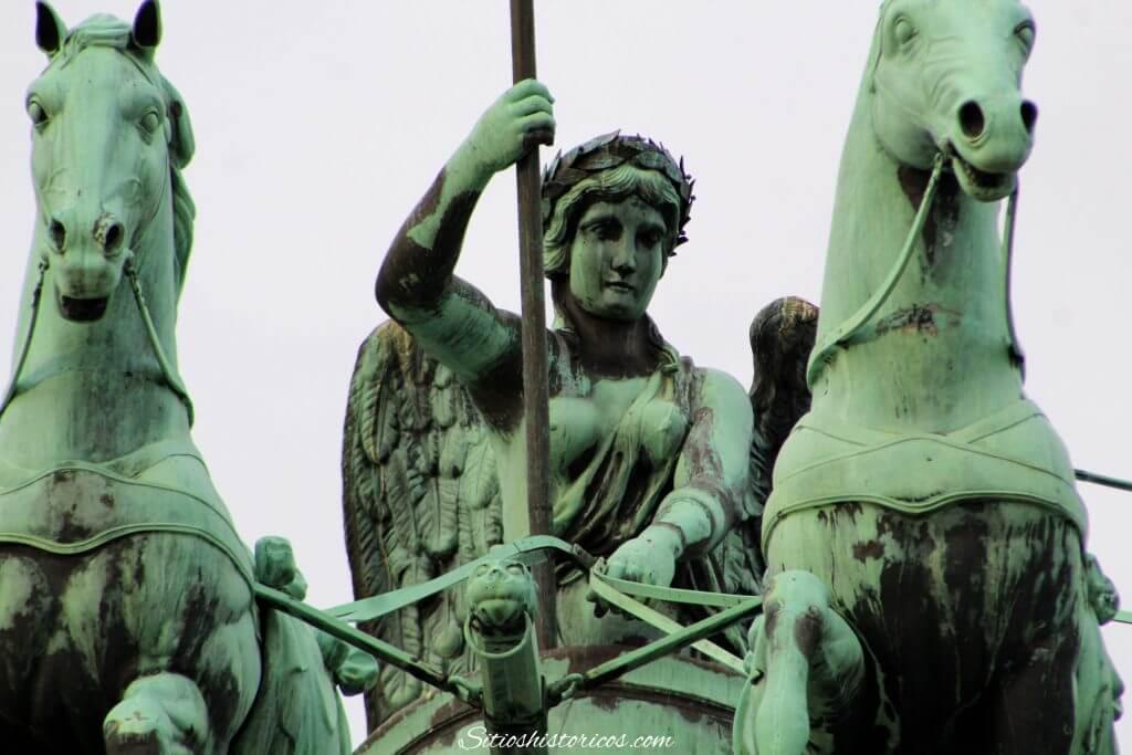 Diosa de la victoria. Puerta de Brandeburgo