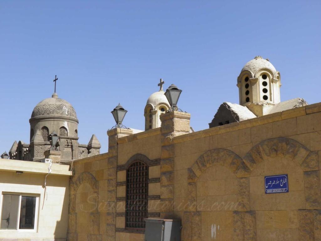 Cúpulas en el barrio Copto de El Cairo