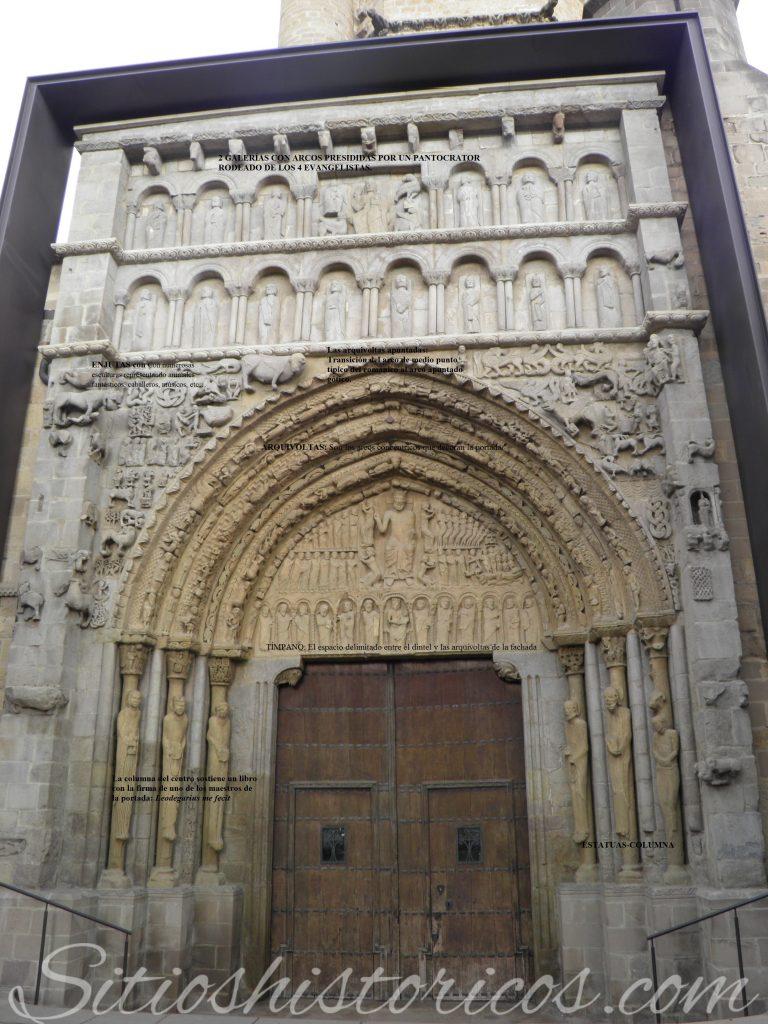 Breve explicación de la portada de Santa María la Real.
