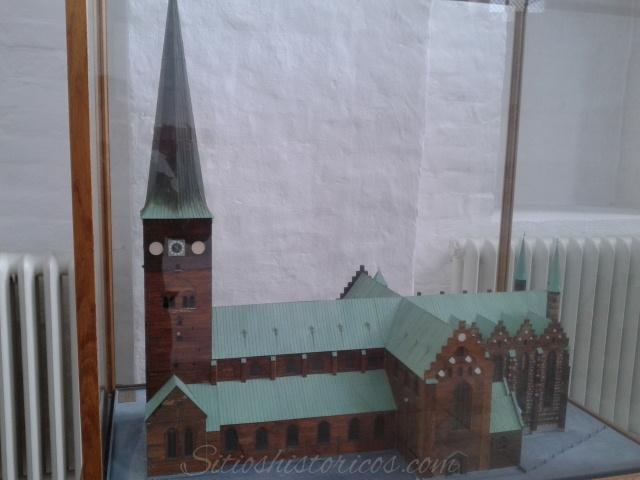Maqueta de la catedral de Aarhus en Dinamarca