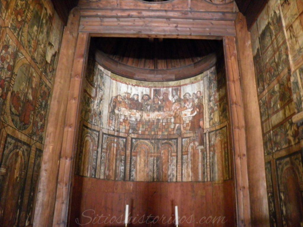 Pinturas abside stavekirke