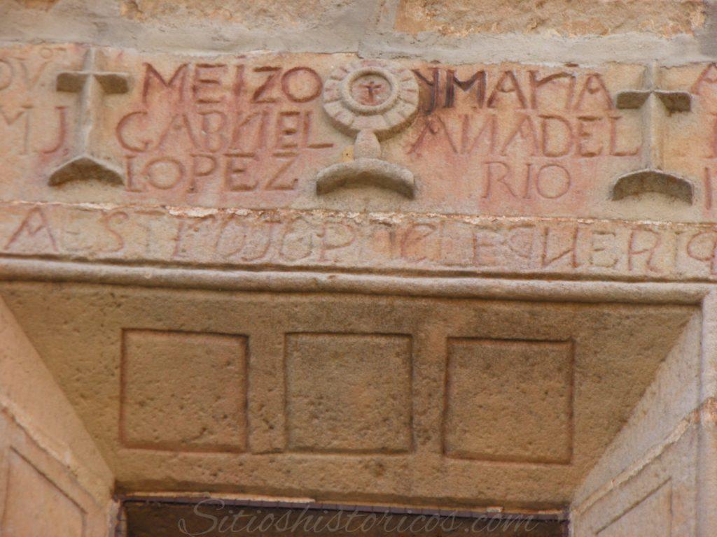 Dintel iglesia Duruelo.