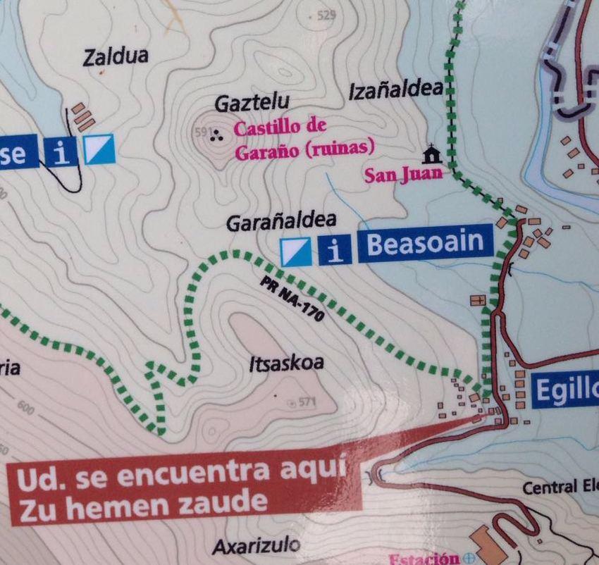 Castillo Garaño ruta