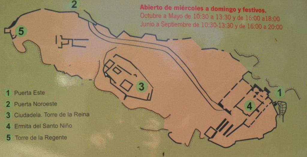 Plano castillo Gaucín