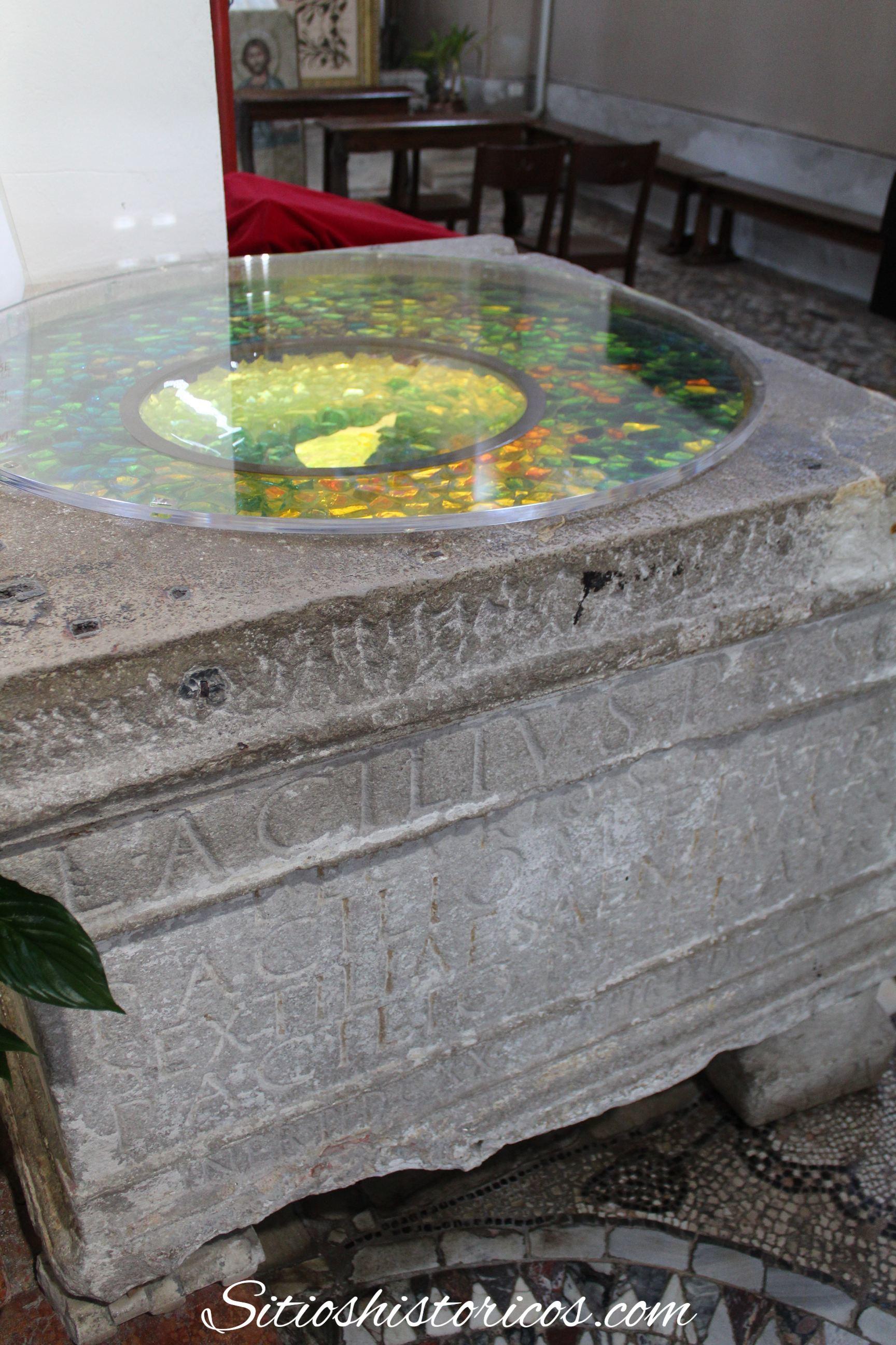 Pila bautismal cristal Murano