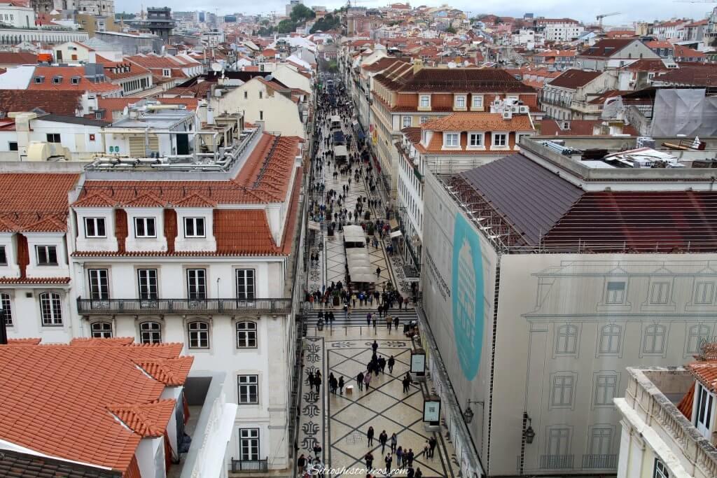 Barrio de la Baixa en Lisboa