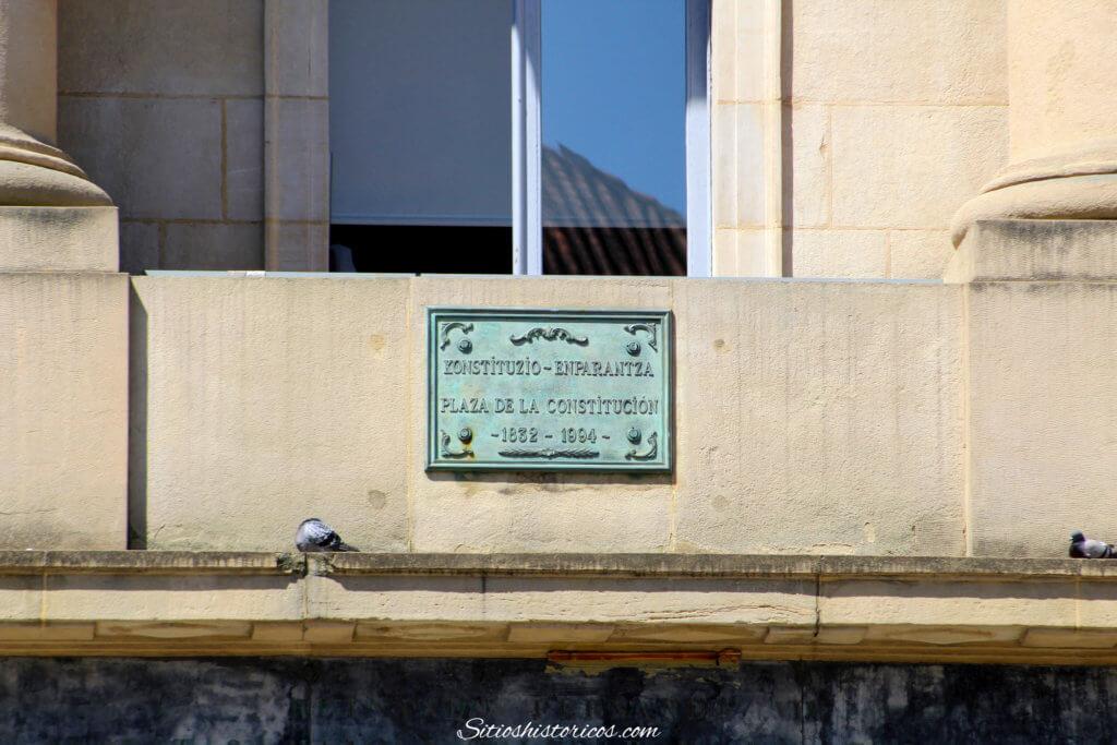 Historia de la Plaza de la Constitución.