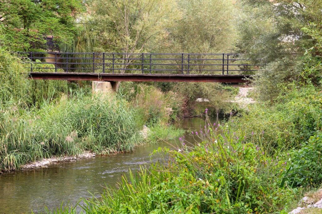 Puente madera Cuzcurrita del Río Tirón